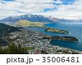 ニュージーランド クイーンズタウン ボブズ・ヒル山頂の展望台からの風景 35006481