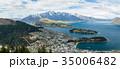 ニュージーランド クイーンズタウン ボブズ・ヒル山頂の展望台からの風景 35006482