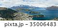 ニュージーランド クイーンズタウン ボブズ・ヒル山頂の展望台からの風景 35006483