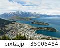 ニュージーランド クイーンズタウン ボブズ・ヒル山頂の展望台からの風景 35006484