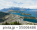 ニュージーランド クイーンズタウン ボブズ・ヒル山頂の展望台からの風景 35006486