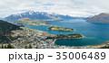 ニュージーランド クイーンズタウン ボブズ・ヒル山頂の展望台からの風景 35006489