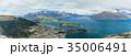 ニュージーランド クイーンズタウン ボブズ・ヒル山頂の展望台からの風景 35006491