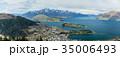 ニュージーランド クイーンズタウン ボブズ・ヒル山頂の展望台からの風景 35006493