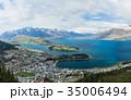 ニュージーランド クイーンズタウン ボブズ・ヒル山頂の展望台からの風景 35006494
