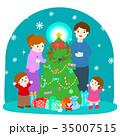 クリスマス ファミリー 家庭のイラスト 35007515