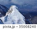 雪の八ヶ岳連峰・大同心の岩峰 35008240