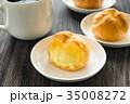シュークリーム お菓子 カスタードクリーム おやつ スイーツ コーヒー 35008272