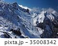 雪の八ヶ岳連峰・横岳稜線 35008342