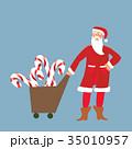 サンタ サンタクロース クラウスのイラスト 35010957