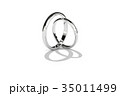 指輪 結婚指輪 マリッジリングのイラスト 35011499