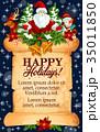 Christmas holidays vector New Year greeting card 35011850
