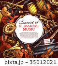Musical instrument poster for music concert design 35012021