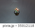 diamond and colorful gems gold ring 35012118