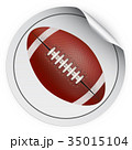 Round Sticker with football ball 35015104