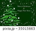 Greeting card with Christmas tree 35015663