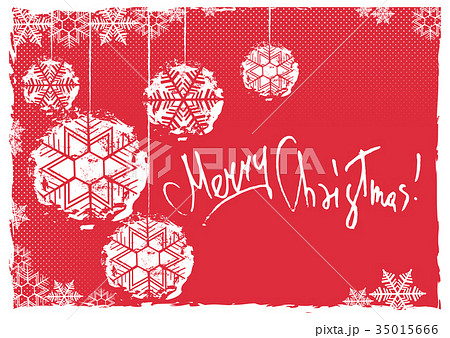 Greeting card with Christmas balls 35015666