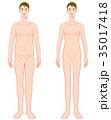 男性 ダイエット 痩せるのイラスト 35017418