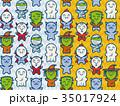 パターン モンスター 怪物のイラスト 35017924