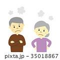 シニア 高齢者 男女のイラスト 35018867