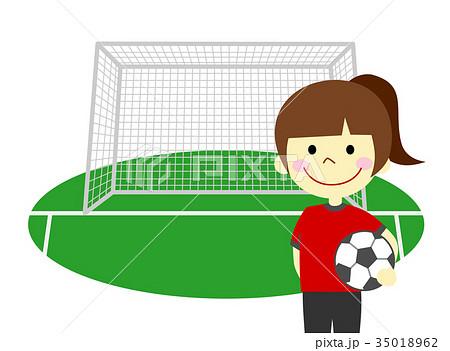 サッカー 女の子 35018962