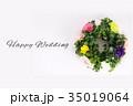 Happy Wedding リース お祝い 35019064