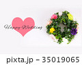 Happy Wedding リース お祝い 35019065
