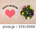 Happy Wedding リース お祝い 35019066