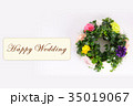 Happy Wedding リース お祝い 35019067