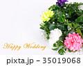 Happy Wedding リース お祝い 35019068