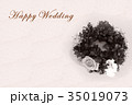 Happy Wedding リース お祝い 35019073