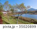 白樺湖 秋 湖の写真 35020899