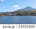 白樺湖 秋 湖の写真 35020900