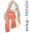 ベクター 女性 笑顔のイラスト 35021032