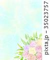 花 植物 ブーケのイラスト 35023757