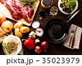肉料理 フライパン 食材の写真 35023979