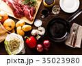 肉料理 フライパン 食材の写真 35023980