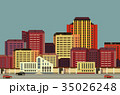 background city streets in flat style 35026248