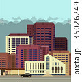 background city streets in flat style 35026249
