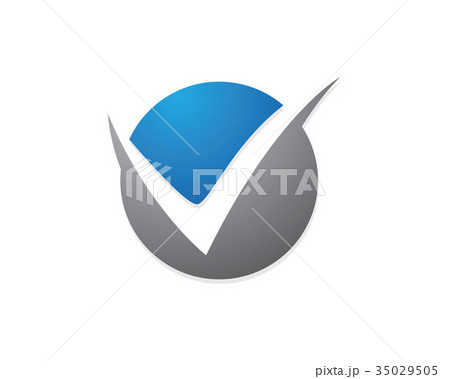 v letter logo templateのイラスト素材 35029505 pixta