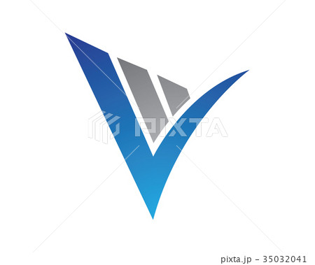 v letter logo templateのイラスト素材 35032041 pixta
