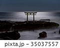 神磯の鳥居 海 大洗海岸の写真 35037557