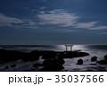 神磯の鳥居 海 大洗海岸の写真 35037566