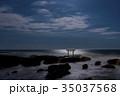 神磯の鳥居 海 大洗海岸の写真 35037568