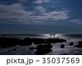 神磯の鳥居 海 大洗海岸の写真 35037569