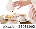 紅茶 ティータイム ティーカップの写真 35038992