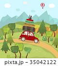 車 自動車 旅行のイラスト 35042122