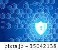 サイバー デジタル アブストラクトのイラスト 35042138