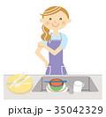主婦 洗い物 35042329