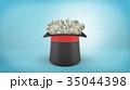 帽子 ハット お金のイラスト 35044398